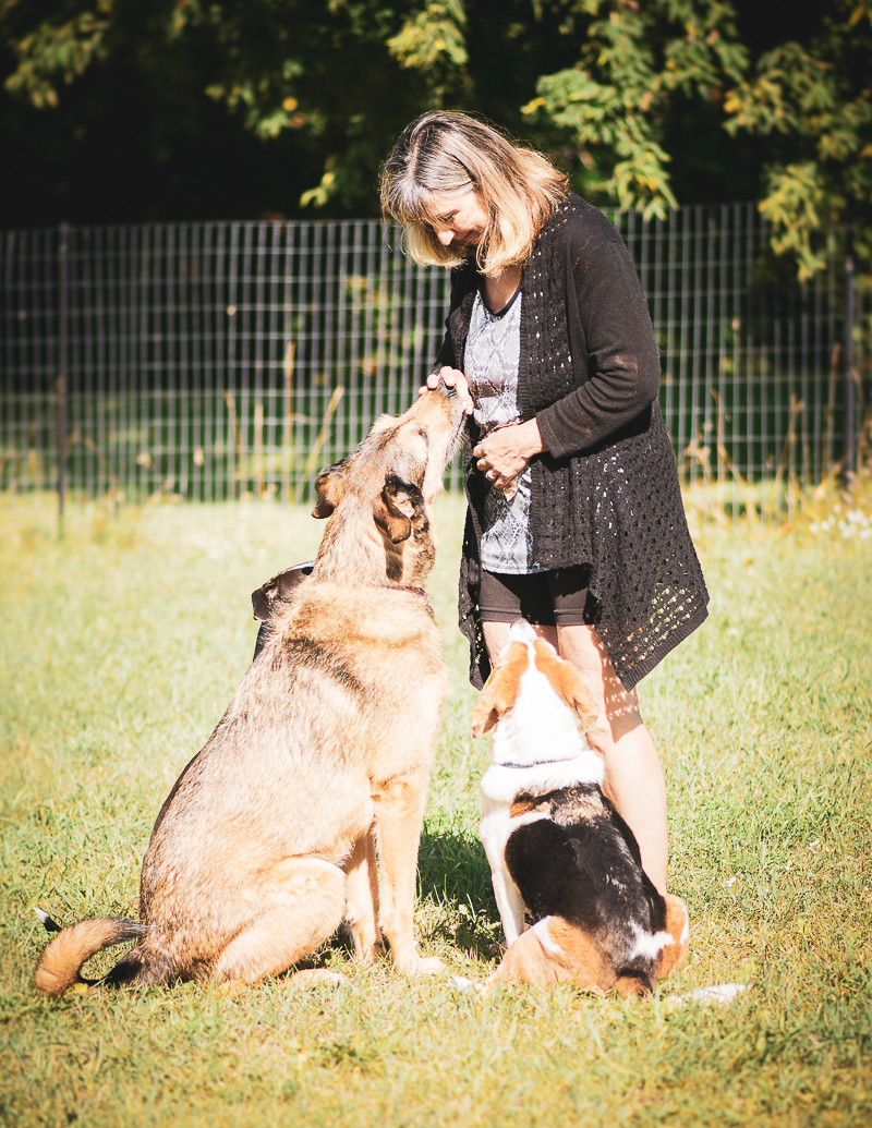 woman and her dogs, © Beth Photography - lifestyle pet photographer