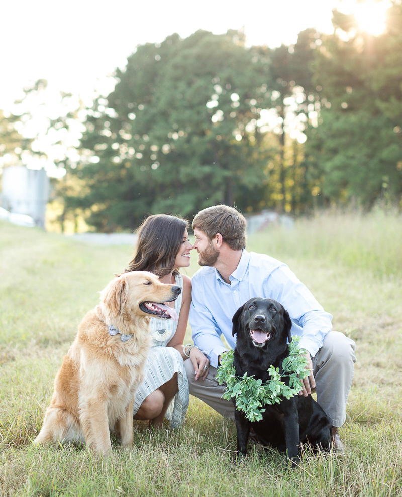 dog-friendly engagement photo pose ideas | ©Brynn Gross Photography, Sanford, NC