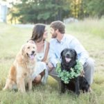 Dog-friendly Sunset Engagement Photos | Sanford, NC