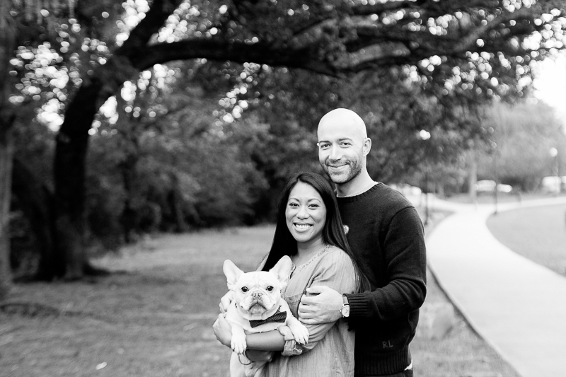 engagement photos with a Frenchie, ©Jessica Hunt Photography. Columbia, SC