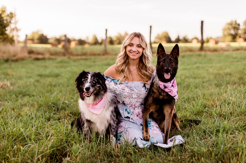 girl and her dogs, woman's best friend ©Jasmine White Photography, lifestyle pet portraits, Princeton, WV