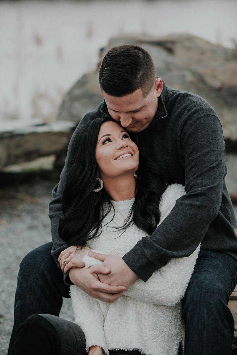 ©Kelli Wilke Photography | winter engagement photos, Wilmington Riverfront