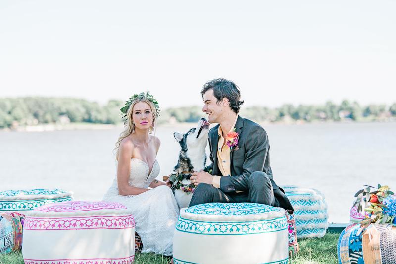 dog-friendly boho wedding ideas | ©Landrum Photography