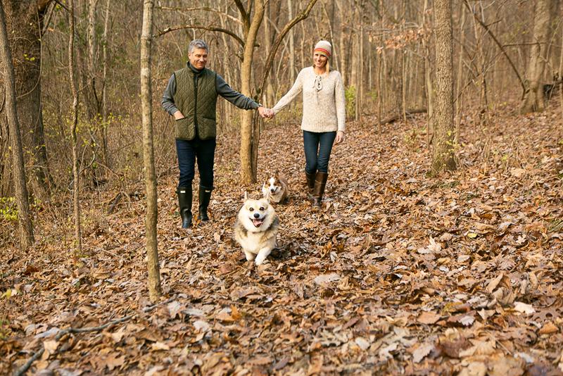 ©Mandy Whitley Photography, dog-friendly family photography, Nashville, TN, Corgi duo