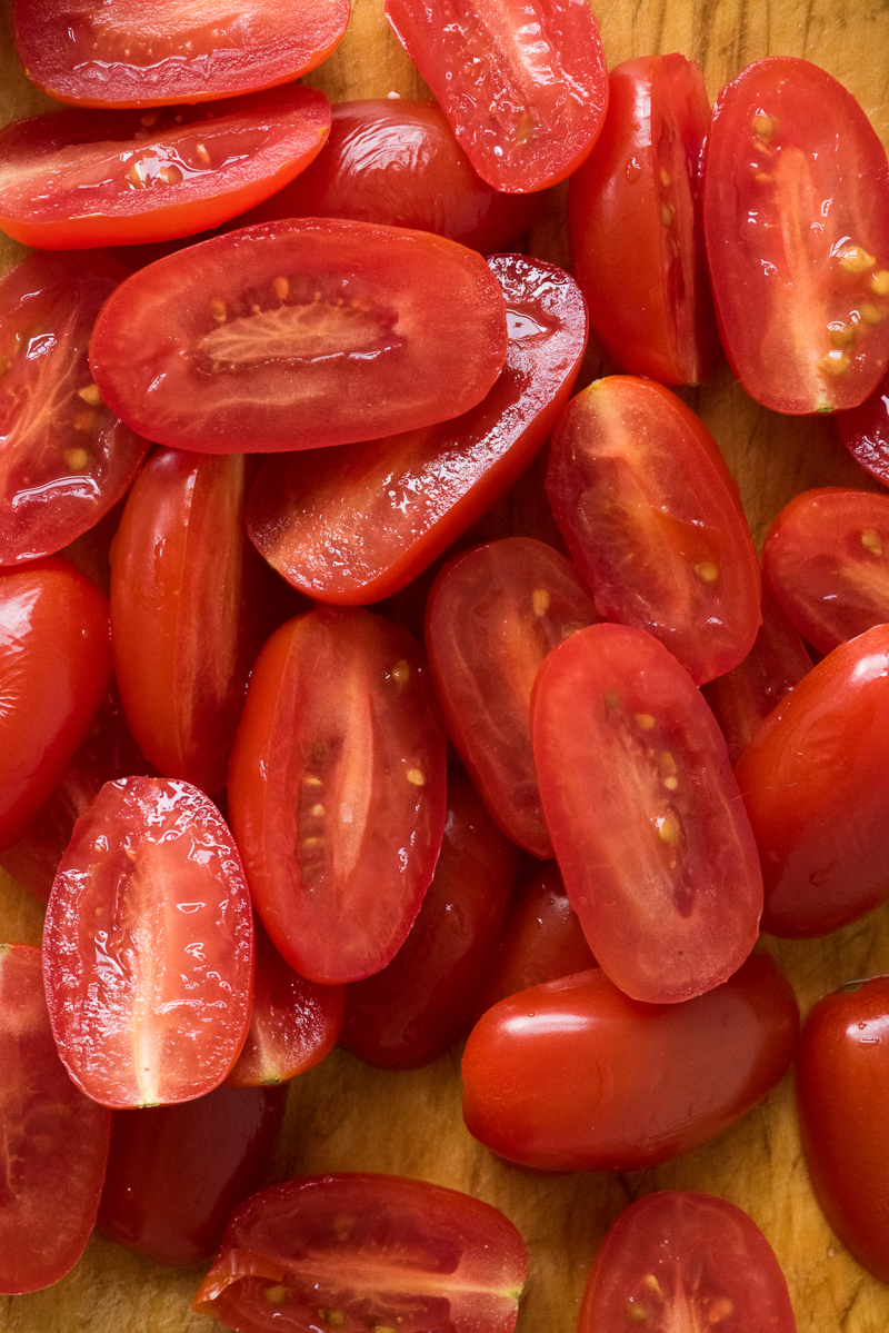 ©Alice G Patterson Photography | sliced grape tomatoes, Syracuse food photography