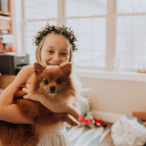 Happy Tails:  Pet-friendly First Communion Session