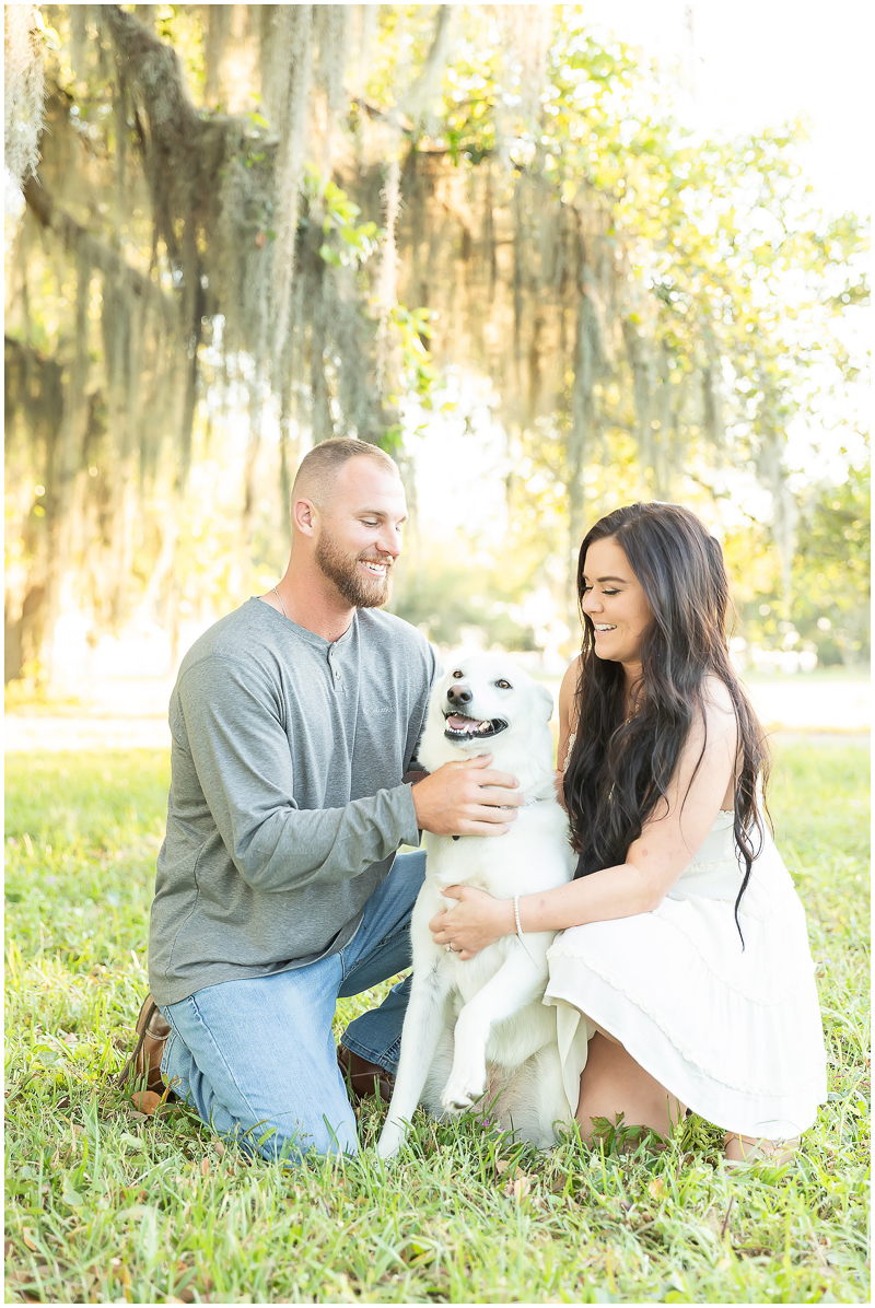 ©Kayce Stork Photography | dog-friendly engagement photos, Biloxi, MS