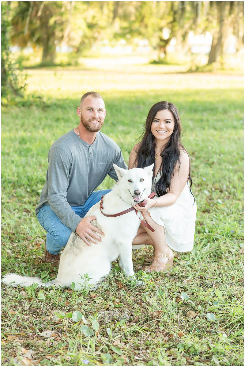 engagement photos with a Shepherd/Husky mix | ©Kayce Stork Photography, Biloxi, MS