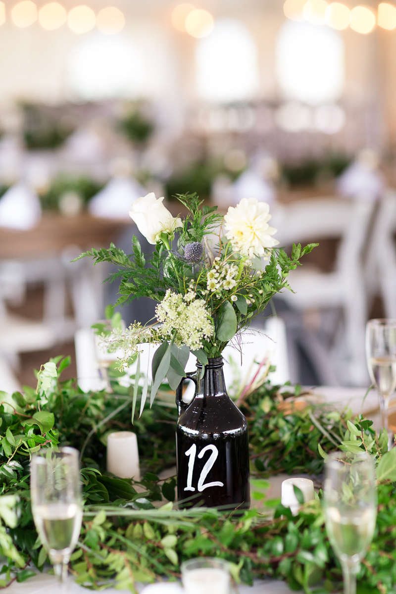 tented wedding reception details | ©Chris and Becca Photography, CT based destination wedding photographers