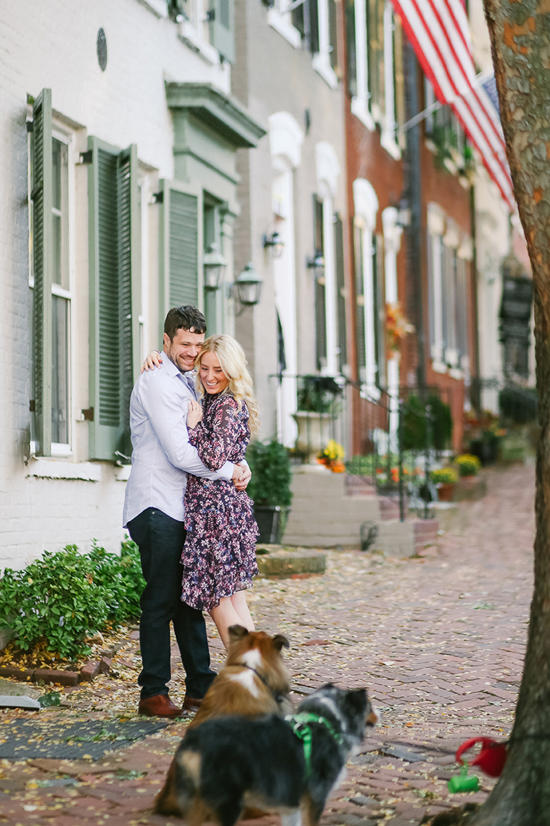 Helena Woods | dog-friendly engagement session, Old Town Alexandria