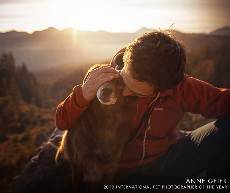 lifestyle dog photography, man and dog | Anne Geier 2019 International Pet Photographer of the Year