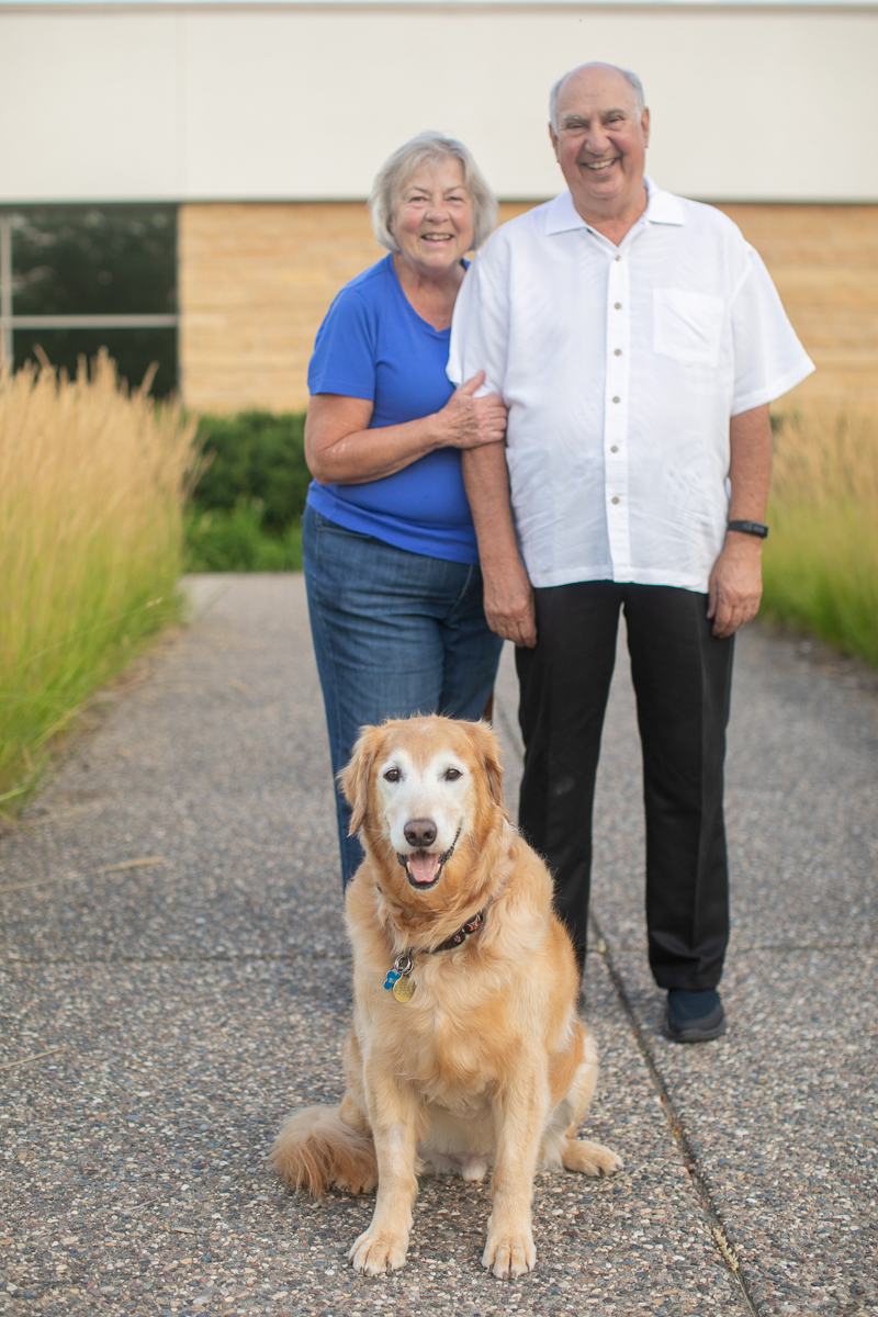 senior couple and their dog, lifestyle photography | ©K Schulz Photography, Minnesota Pet Photography