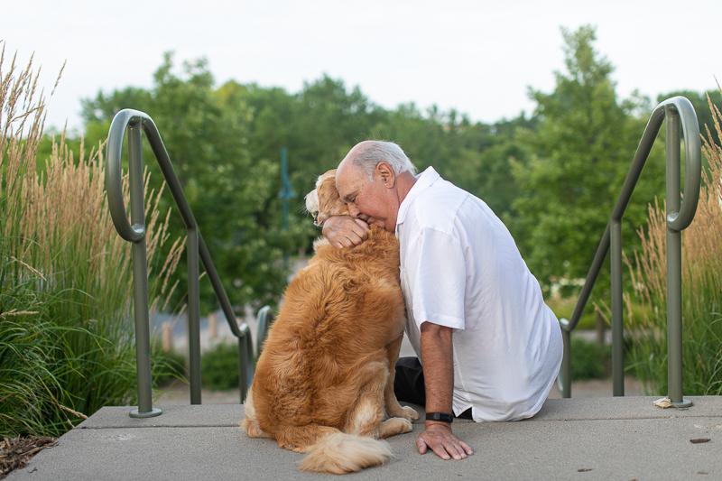 man hugging his dog, ©K Schulz Photography, Minnesota Pet Photography