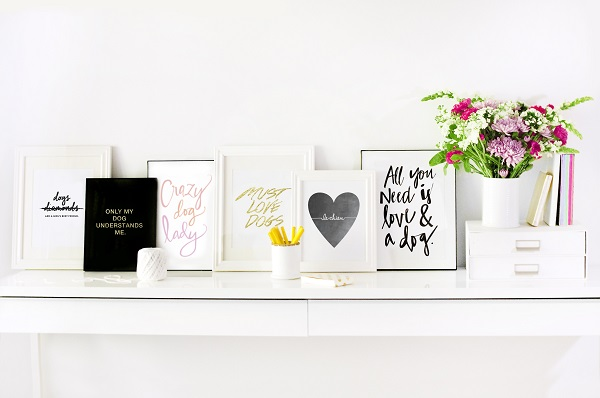 © Pretty Fluffy |Great gift idea, prints featuring dog quotes