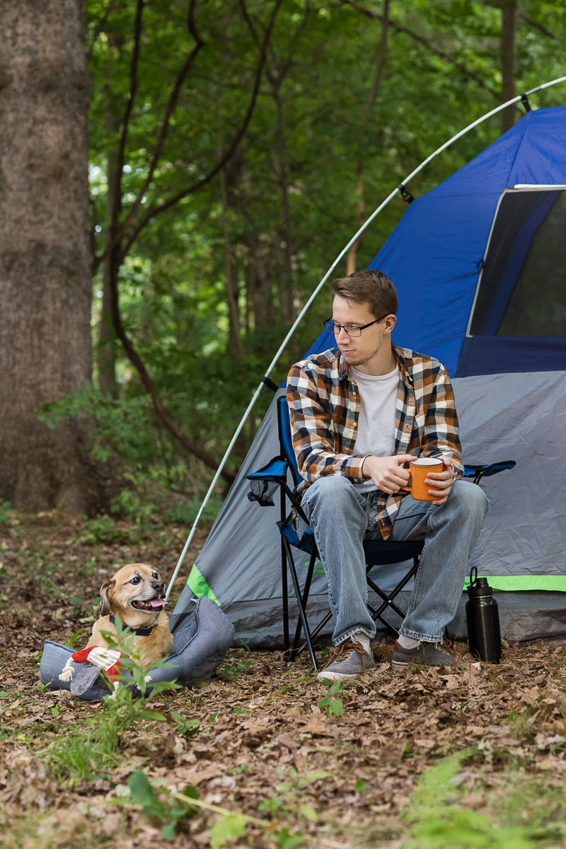 college kid and dog camping, Alice G Patterson Photography, CNY lifestyle portraits, #BLUESierraDelta