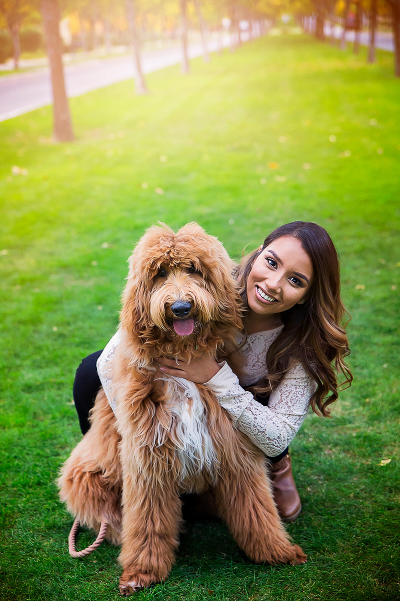 woman and her Goldendoodle, ©Laura Gordillo Photography | people and pet portraits, Phoenix, AZ