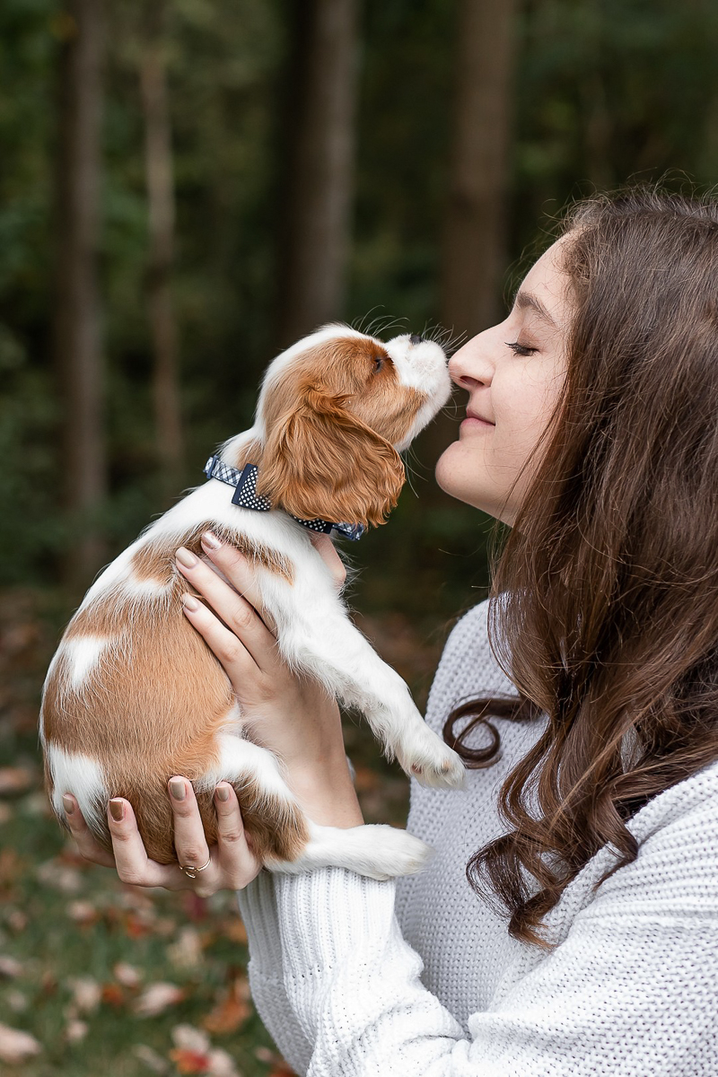 nose to nose, puppy and human| Heather O'Steen Photography, puppy photography ideas