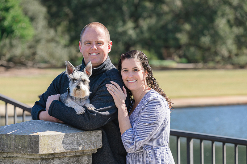 family portraits with a mini Schnauzer | © Charleston Photo Art | dog-friendly family portraits