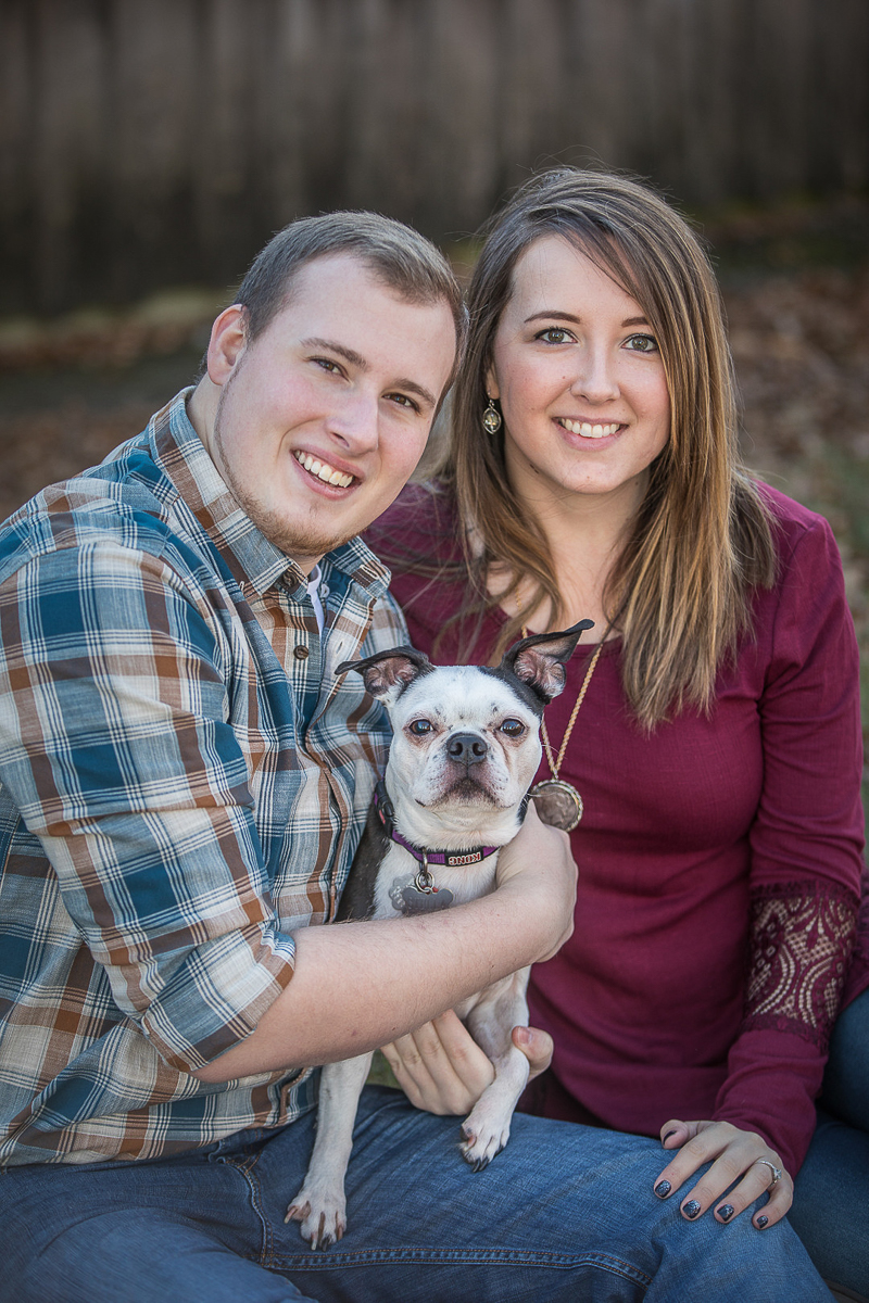 tips for including dogs in engagement photos, Boston Terrier | ©K Schulz Photography | dog-friendly engagement tips