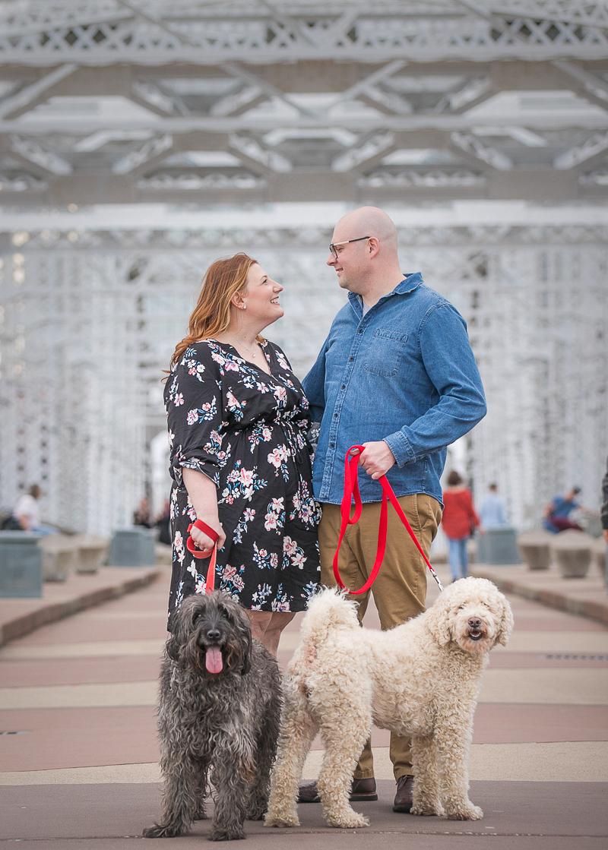 dog-friendly engagement photo ideas | ©K Schulz Photography