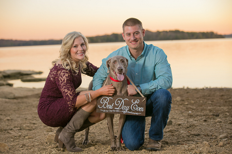 dog wearing save-the date-sign | ©K Schulz Photography | MN wedding and pet photography