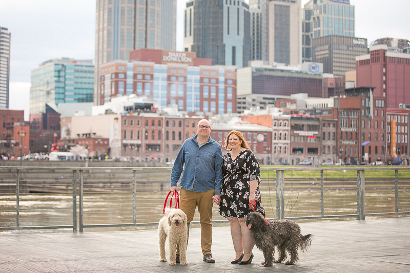tips for including dogs in engagement photos | ©K Schulz Photography
