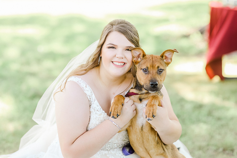 happy bride and her Lab mix puppy | ©Shelby Chante' Photography