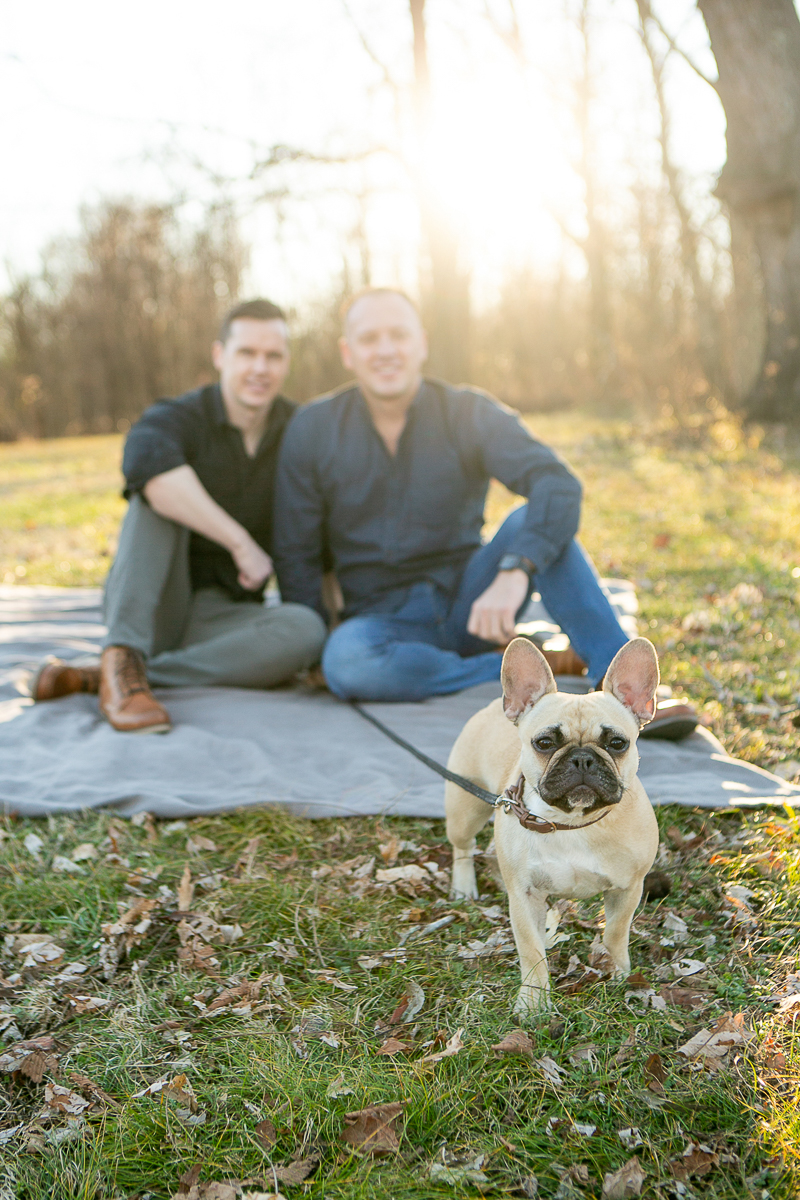 couple and their dog, dog-friendly family photography | ©Mandy Whitley Photography, Nashville, TN