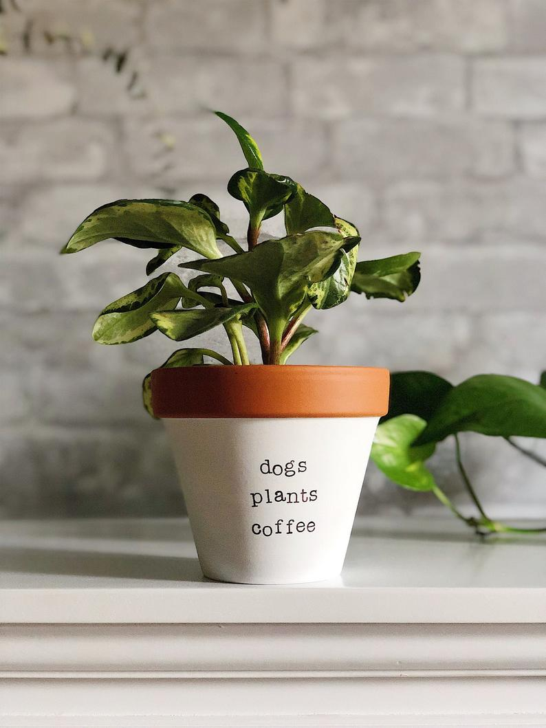 cute planter for dog lovers | Etsy