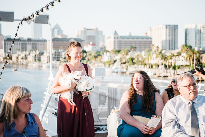 dog-friendly wedding on a yacht |©I Got Shot By Lisa Marie Photography