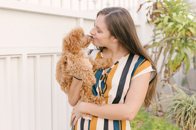 woman kissing her dog, Cavalier/Poodle mix | ©Jasmine Marie Photography | lifestyle dog photography