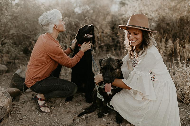 dog-friendly engagement session | ©Kali M Photos | Arizona wedding and elopement photographer