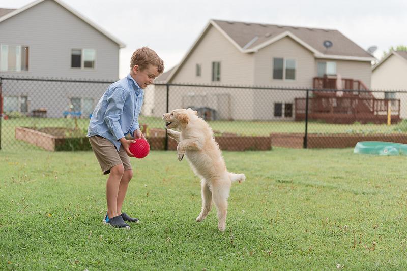 boy and his dog, dog-friendly family photos | ©Samantha Rule Photography