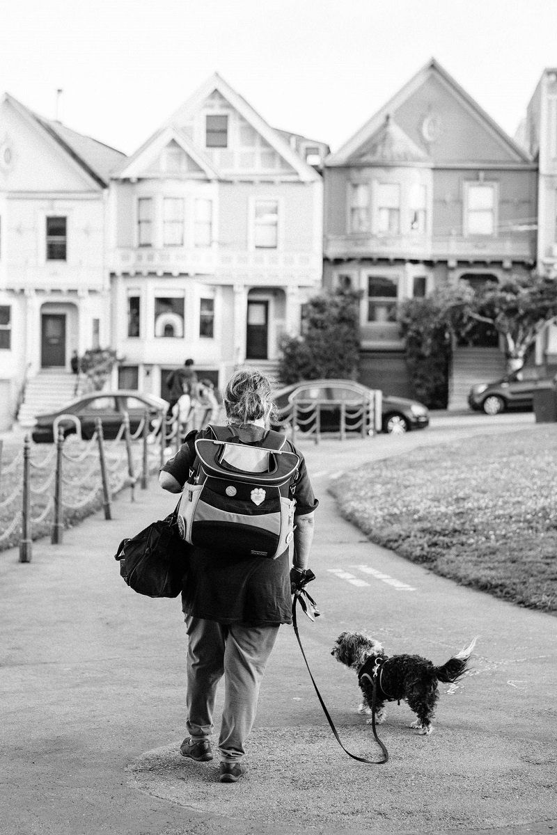 woman and her dog, SF dog park | © misterdebs photography
