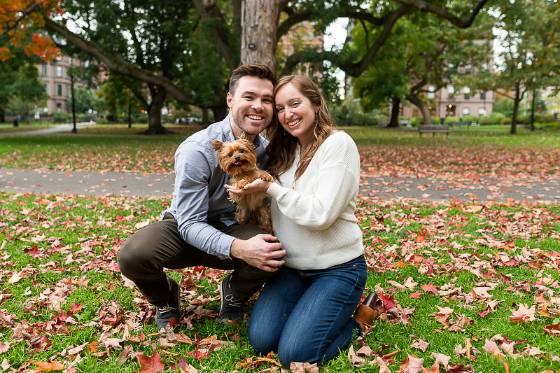 engagement photos with a Yorkshire Terrier | ©Jess Sinatra Photography