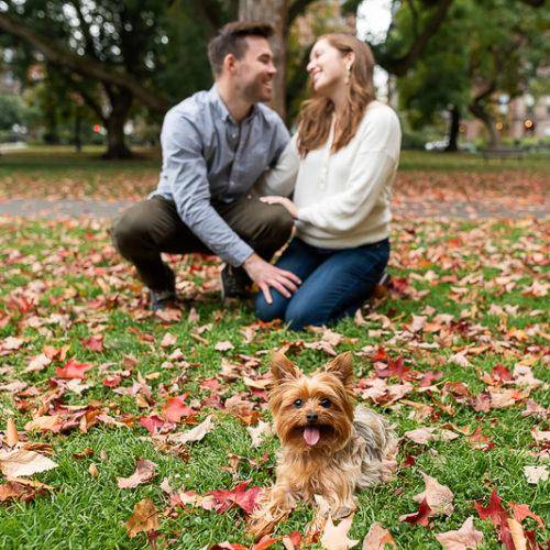 Dog Friendly Engagement Session | Boston Public Garden