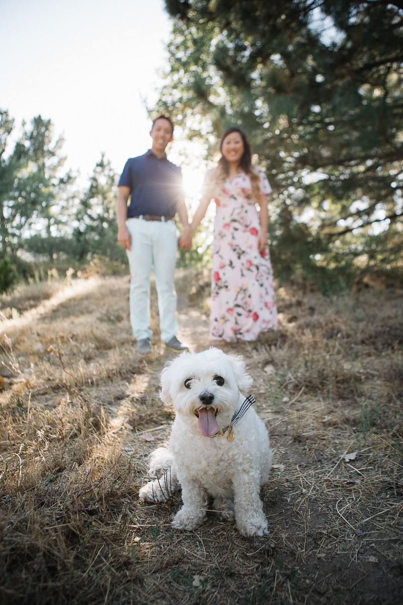 engagement photos with a dog, dog photography ideas | ©Stephanie Fong Photography Lake Cuyamaca, California