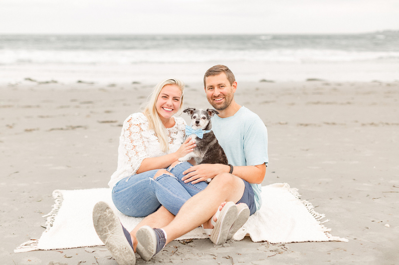 dog-friendly beach engagement session, Newport, RI | ©Coli Michael Photography