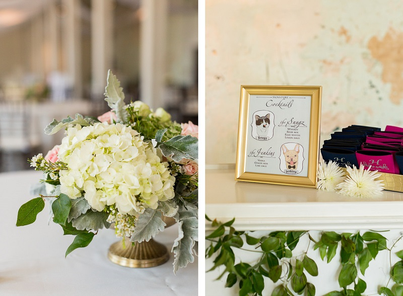 ways to include pets in a wedding, signature cocktails, © Jessica Hunt Photography