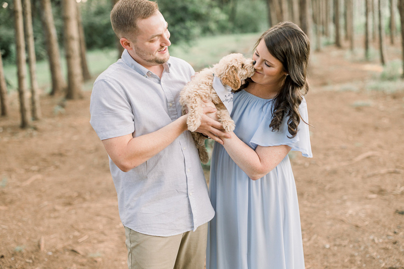 engaged couple holding their puppy, ©John Malloy Photography, Lancaster, PA