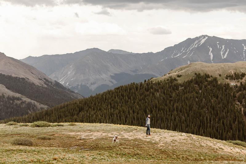 man and his dog, Colorado adventure photography ©Sheena Shahangian Photography
