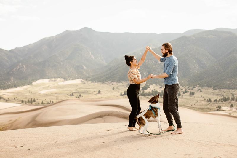 dog-friendly portraits | ©Sheena Shahangian Photography | Adventure Elopement Photography