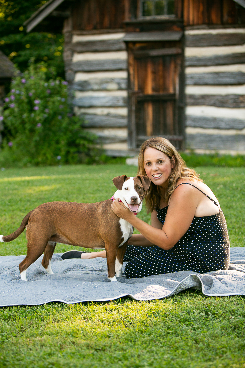love between dog and woman, dog-friendly portraits, ©Mandy Whitley Photography, Nashville