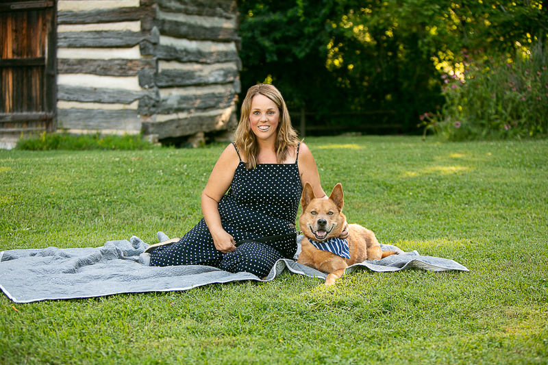 woman and her rescue dog, Chow mix, lifestyle dog photography   ©Mandy Whitley Photography