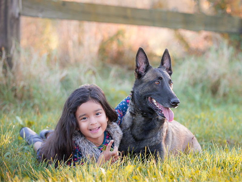 adorable little girl and her dog, kids and dogs portraits, ©Terri J Photography | Toronto, Ontario