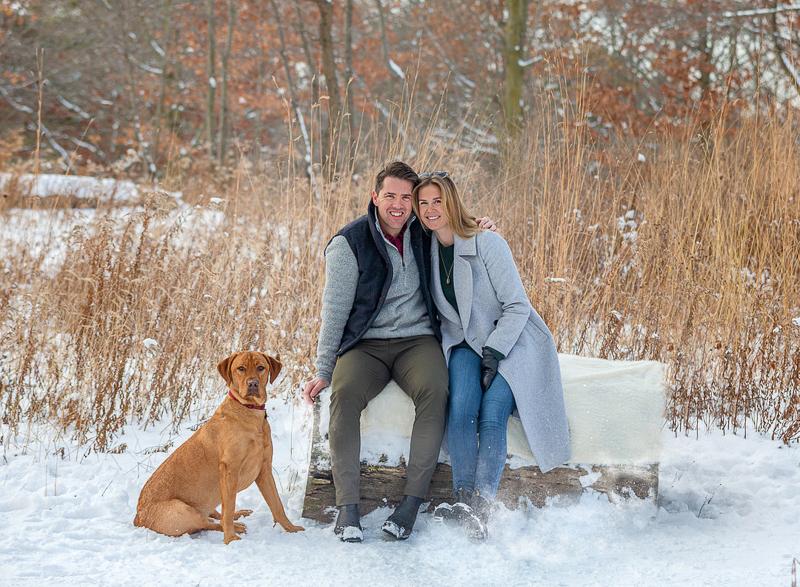 dog-friendly snowy family portraits, ©Terri J Photography, Toronto and Florida photographer