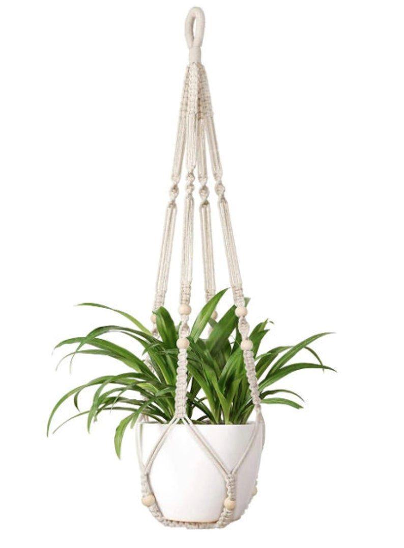 macramé plant hanger on Etsy