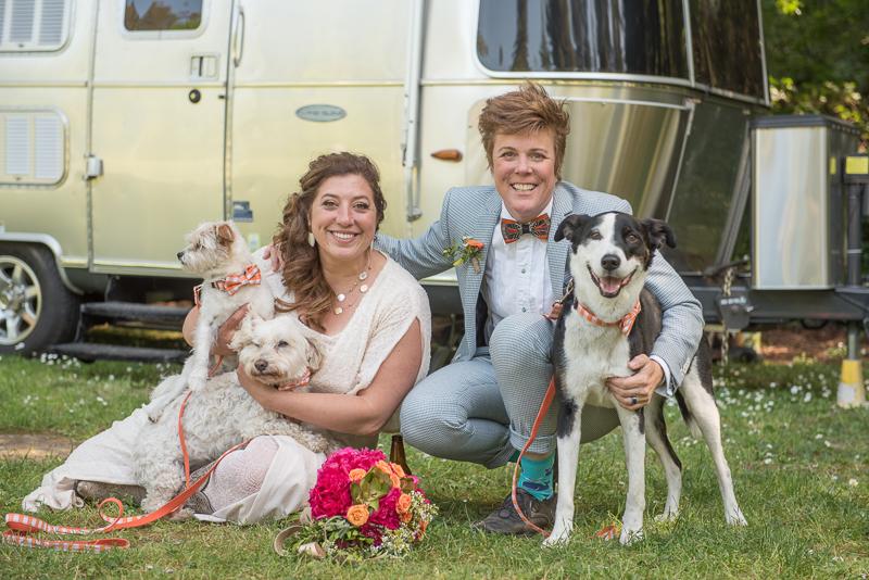 dog-friendly LGBTQ wedding, Rustically Romantic Darby Johnson Photography | Guerneville, CA