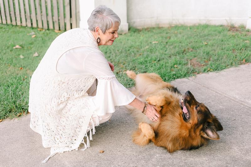 dog enjoying belly rub | ©Ashley Elizabeth Photography
