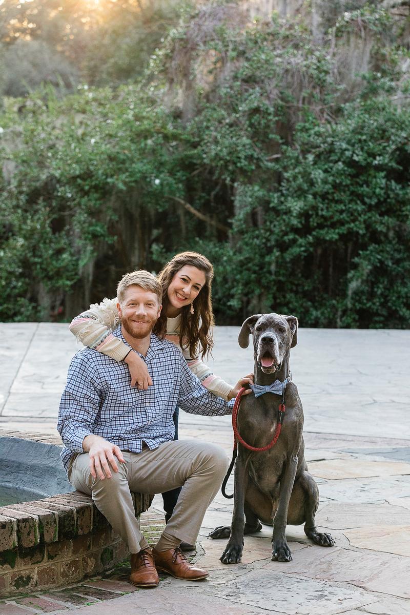 dog-friendly family portraits with Great Dane   ©Charleston Photo Art